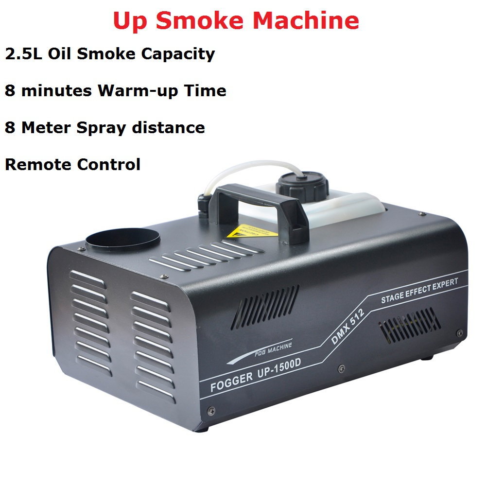 2019 New Arrival 1500W DMX Fog Machine Pyro Vertical Smoke Machine/Professional Fogger For Stage Party Dj Xmas Lighting Shows
