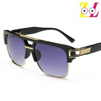 Brand new European and American trend of high - end fashion glasses men driving glasses sunglasses