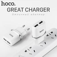HOCO 5V 2 4A Universal Dual USB Charger Wall Charger EU Plug Portable For IPhone Samsung