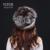 YCFUR Novos Chegada das Mulheres Chapéus de Inverno Skullies Gorros de Pele de Coelho Rex Com Pele De Raposa Naturais Guarnições Bonés de Inverno Senhoras