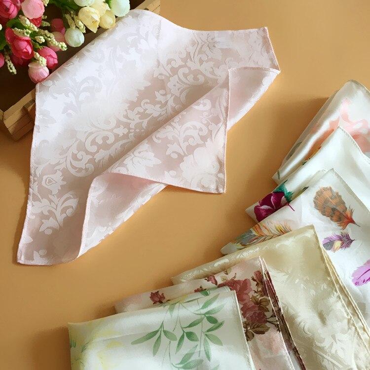 5pcs/lot Mulberry Silk Handkerchief Pocket Beauty Handkerchief Towboats Squareinto