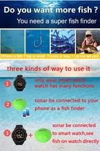 Brand New KDR Smart Watch + Phone Bluetooth Intelligent 2-in-1 Fish Finder Wireless Fish finder watch Free Shipping