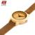 TTLIFE Amantes Artesanais de Madeira Relógio Minimalista Japonês Movimento de Quartzo Das Mulheres Dos Homens Pulseira de Couro Relógios Com Pacote de Caixa de Bambu