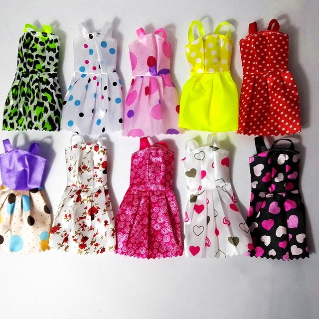 new 20 PCS/set Handmade Party 12 Clothes Fashion Mixed style Dress + 8 Pair Accessories Shoes for Barbie Doll Best Gift Girl Toy