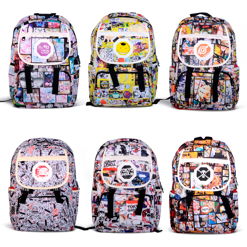 Image 3 - Anime Naruto Printing Cartoon Backpack School Bag Student Rucksack Shoulder Bags Large Book Satchel Purse Collection Boys Gifts-in Backpacks from Luggage & Bags