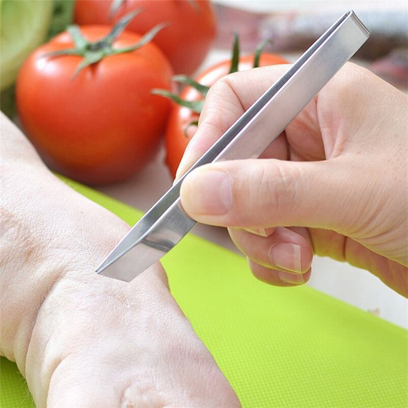 Stainless Steel Fish Bone Tweezer Healthy Safe Household Kitchen Tool Remover Chickens Ducks Plucking Tongs Wholsale #3D09