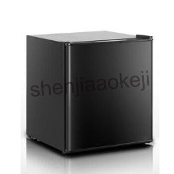 Mini hogar sola Puerta pequeña nevera vino refrigerado leche alimentos almacenamiento en frío congelación refrigerador 1 unid