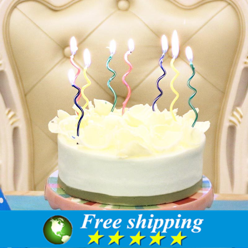 16pcs High Quality Creative color curve birthday cake ...