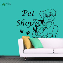 YOYOYU Wall Decal Vinyl Sticker Dog Cat Pet Shop Grooming Salon Decor Comb Paws Art Removeable Poster YO273