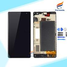 100% Новый Испытания для Nokia Lumia 730 735 Жк-Экран с Сенсорный Дигитайзер Рамка Инструменты Ассамблея Черный 1 шт. бесплатная доставка