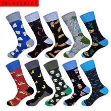 Downstaris Fashions Men Socks Classical Lovely Pattern Skateboard Popsocket Happy Meias Homem 10Pairs/Lot