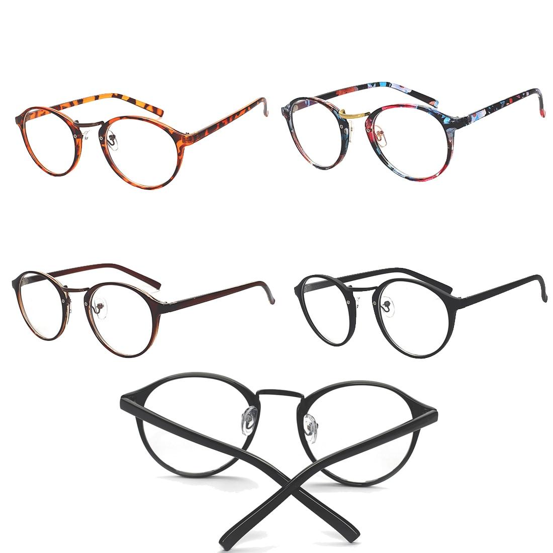 Angemessen Mode Harajuku Mädchen Runde Rahmen Plain Spiegel Brillen Mode Student Klar Brillen Rahmen Frauen Optische Brillen StraßEnpreis