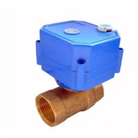 CWX 25S Mini Electric Actuator Control Ball Valve With Manual Override Function DN32 Brass for Smart Use