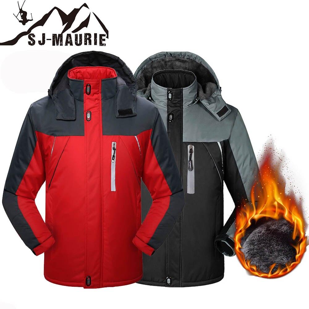 Sj-maurie Ski costume hommes coupe-vent Ski vestes hiver chaud en plein air Sport randonnée Ski snowboard mâle escalade manteaux M-6XL