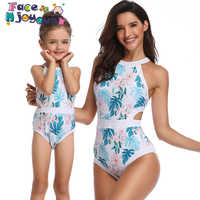 2019 sommer Familie Passenden Kleidung Mom Tochter Kleidung Mutter Tochter Bademode Familie Aussehen Mama Mich Bikini Bahitng Badeanzug