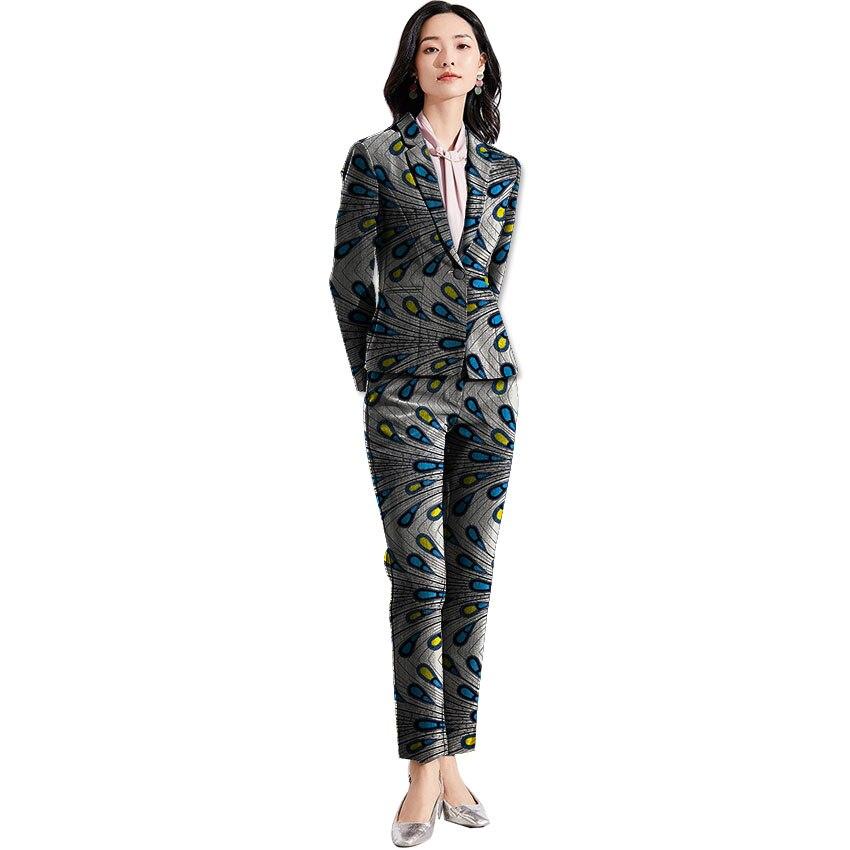 11 6 Pour Mode 4 Pantalon 7 Imprimer 8 Femmes 2 Personnalisés Vêtements 9 Ensemble 3 Élégant Dashiki 5 Costumes Blazer Dames Africaine Avec De 10 nraHrqxS