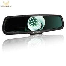 Retrovisor automotivo com visão transparente, espelho retrovisor eletrônico para toyota honda i30 hyundai vw peugeot 4