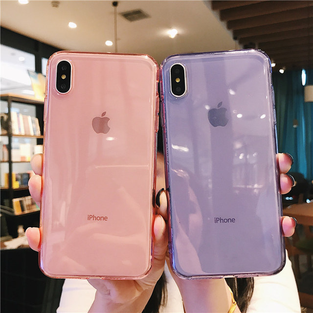 iPhone 7 Phone Case Clear Solid Candy Color For iPhone 11 Pro XS Max 6 6s 7 8 Plus X XR Soft TPU Silicone Back Cover 2