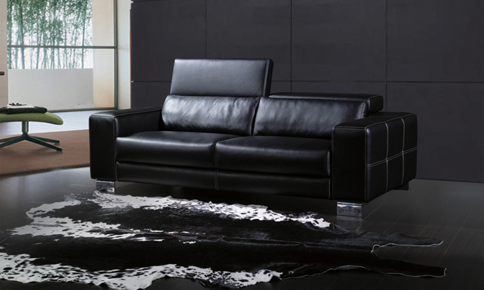Free Shipping 2015 Latest Modern Desgin High Back Luxury Top Grain Cattle Leather Sofas Living Room Furniture 3 Seater Sofa