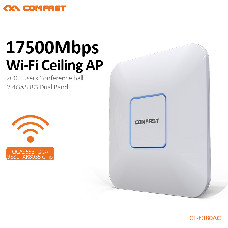 Access Point 48V poe Ceiling ap router 1750M Wireless 11 AC gigabit Router Dual Band 2.4G&5.8G AC Router WiFi Roteador CF-E380AC 2pcs 1750m gigabit ac wifi router 2 4ghz 5g dual band wifi repeater access point ap router cf e380ac wireless ceiling ap openwrt