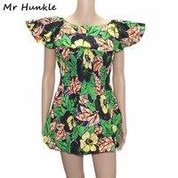 السيد hunkle مثير نادي البسيطة اللباس هندسية طباعة الشمع الأفريقية الصيف الكرة بثوب الكشكشة الإمبراطورية dashiki الباتيك فساتين للنساء