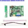 HDMI VGA Placa Controladora 2AV Áudio e Vídeo + 40 Pinos Cabo Lvds Kits para LTN173KT01-A01 C01 1600x900 2ch Display LCD de 6 bits