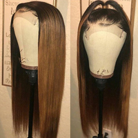 13X6 Deep Part Lace Front Human Hair Wigs 150 Density Brazilian Remy 1B/30 Honey Blonde Ombre Wig With Baby Hair For Black Women