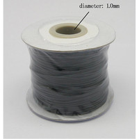 Korean Wax Polyester Cord Black 1mm About 100yard Roll