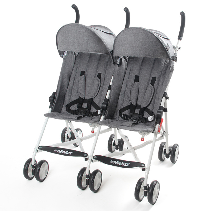Twin Baby Stroller Umbrellas Breathable Can Sit Reclining Folding Portable Lightweight Four Seasons Universal Double Trolley
