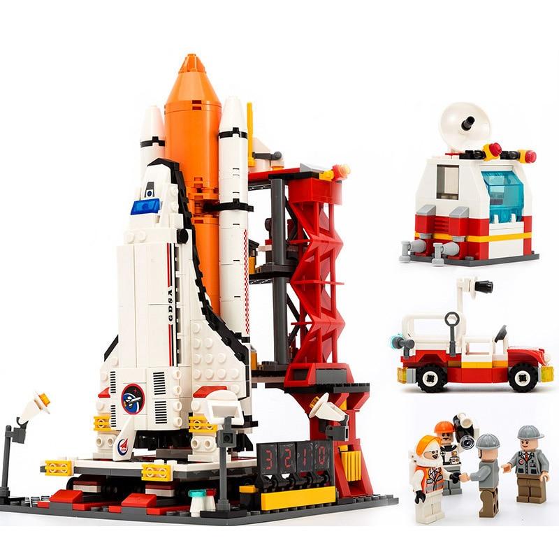 679Pcs City Spaceport Space Shuttle Blocks Bricks Building ...