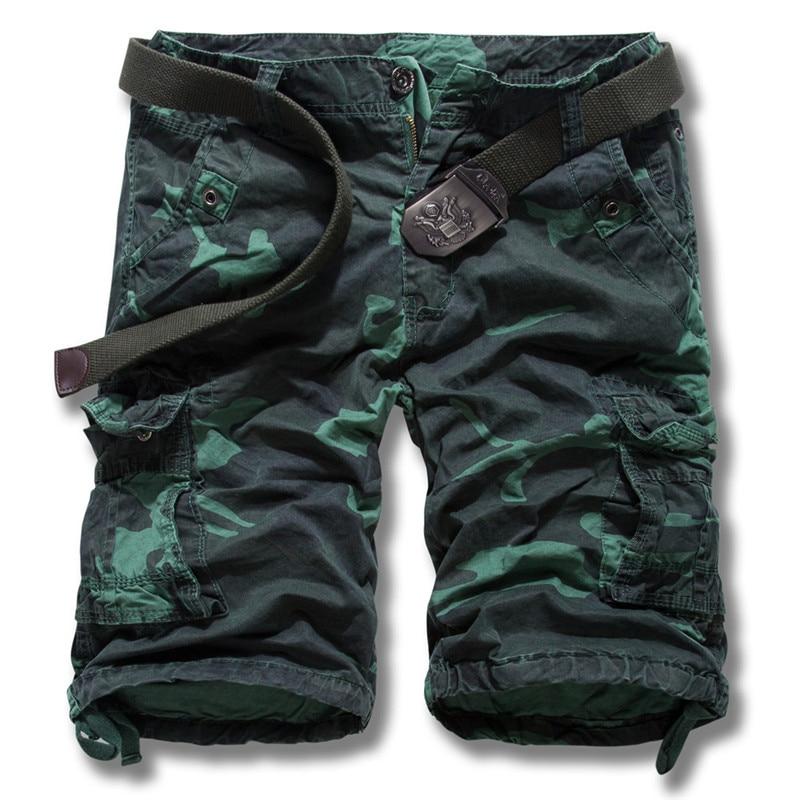 HOWL LOFTY 2017 New men summer military cargo shorts bermuda masculina jeans male fashion baggy cargo shorts(no belt)