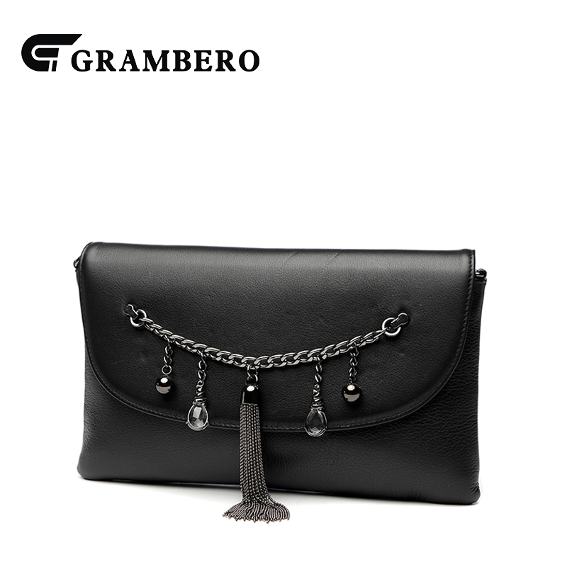 2018 New Style Tassel Envelope Clutch Wallet Top Leather Fashion Women Shoulder Bag Modern Crossbody Bags Purse Sent Friend Gift new punk fashion metal tassel pu leather folding envelope bag clutch bag ladies shoulder bag purse crossbody messenger bag