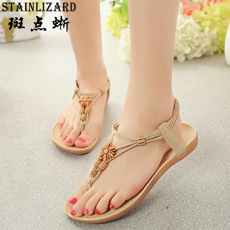 Shoes Women 2017 summer new sandals women Bohemian beach comfortable beaded fashion sandals flip flops BT524 free shipping summer shoes women sandals beaded bohemian flip flops sandals beach shoes for women