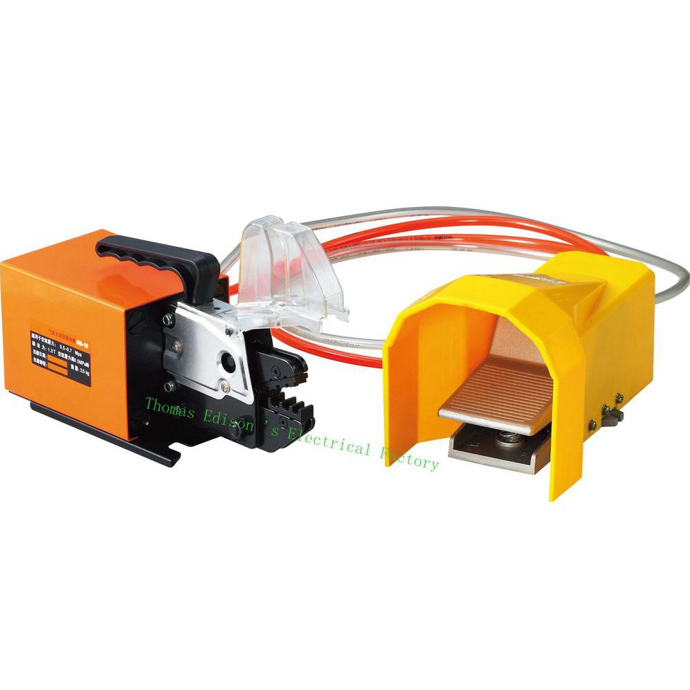 AM-10 PNEUMATIC CRIMPING TOOLS AM-10 Pneumatic Crimping Tools machine for Kinds of Terminals with Exchangeable Die Sets pneumatic crimping tools plier with 15 sets of dies