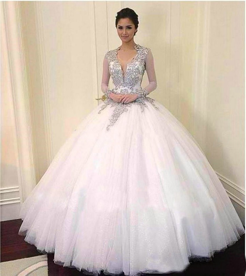 Wedding White Quinceanera Dresses popular white quinceanera dress buy cheap 2017 keyhole back long sleeve appliques sweet 16 for 15 years vestidos