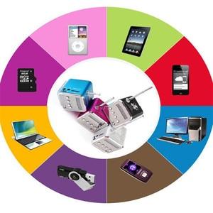 Image 5 - Draagbare Mini FM Radio Speaker USB MP3 Music Player Sound box Ondersteuning Micro SD TF AUX met Lcd scherm voor PC Laptop Gift