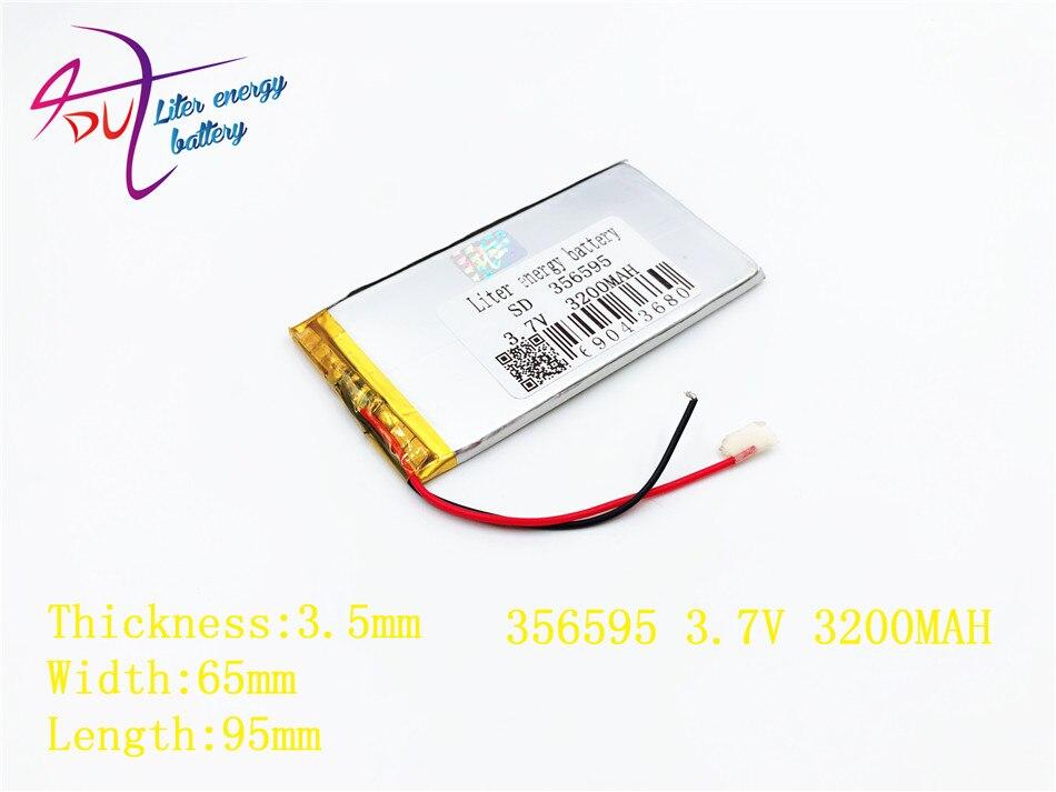 Digital Batterien 3,7 V 3200 Mah 356595 336393 Liter Energie Lithium-polymer Batterie Mit Bord Für Mp4 Mp5 Gsp Digitale Produkt Ein Bereicherung Und Ein NäHrstoff FüR Die Leber Und Die Niere Batterien