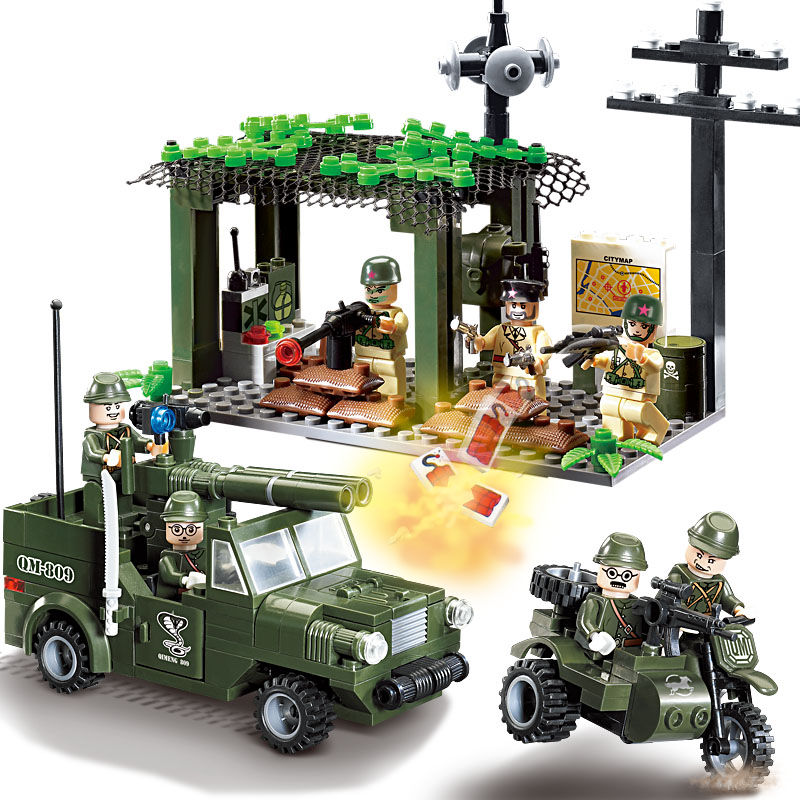 Enlighten Military Educational Building Blocks Toys For Children Gifts Army Cars Planes Helicopter Weapon Compatible With Legoe city series helicopter surveillance building blocks policeman models toys children boy gifts compatible with legoeinglys 26017