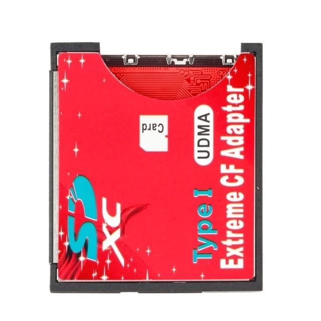 100% haute qualité unique Slot extrême pour Micro SD/SDXC TF à Compact Flash CF Type I lecteur de carte mémoire graveur adaptateur plus récent 2