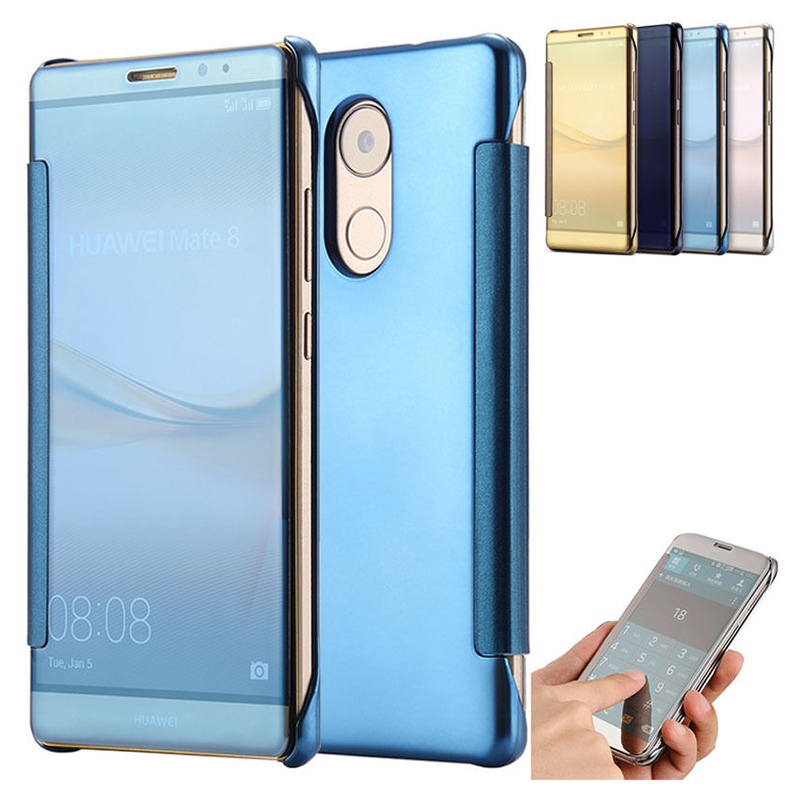Luxury Clear Mirror View Case for Huawei P9 P8 Lite G8 ...