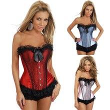 Noble fashion sexy Bow decoration corset women show charming figure breast care corset training corset gothic corset tops