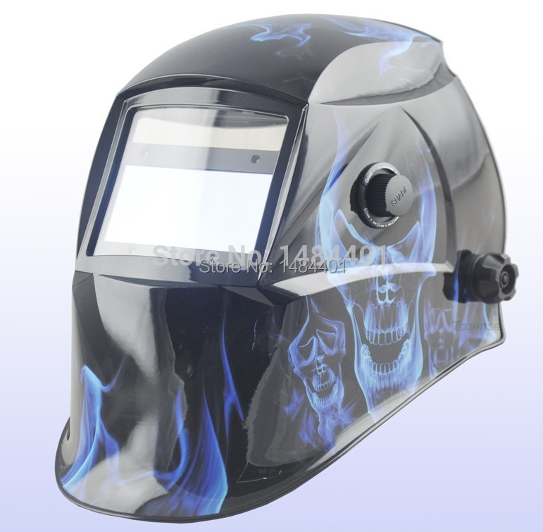 free post Flame skeleton  Auto Darkening Welding Helmet for ARC MAG MIG TIG Electric welder mask Chrome Welding we are the best free post welder cap for welder operate the tig mig mma zx7 plasma cutter welder helmet polished chrome welding we are the best
