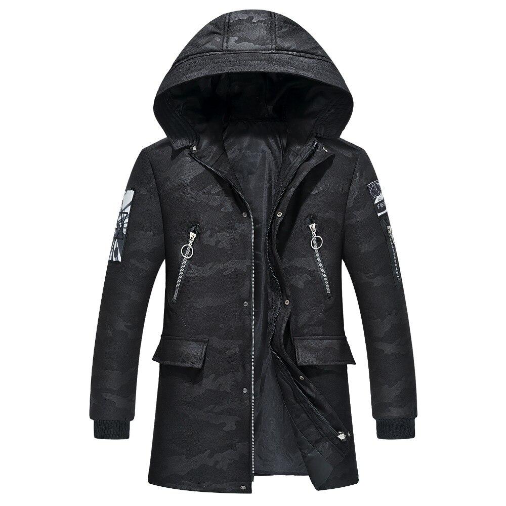 Chaqueta de invierno talla grande 4XL 9XL chaqueta de invierno para hombre abrigo suave para hombre chaqueta barata de plumón con capucha rompevientos chaqueta fría de nieve WU74-in Parkas from Ropa de hombre    1