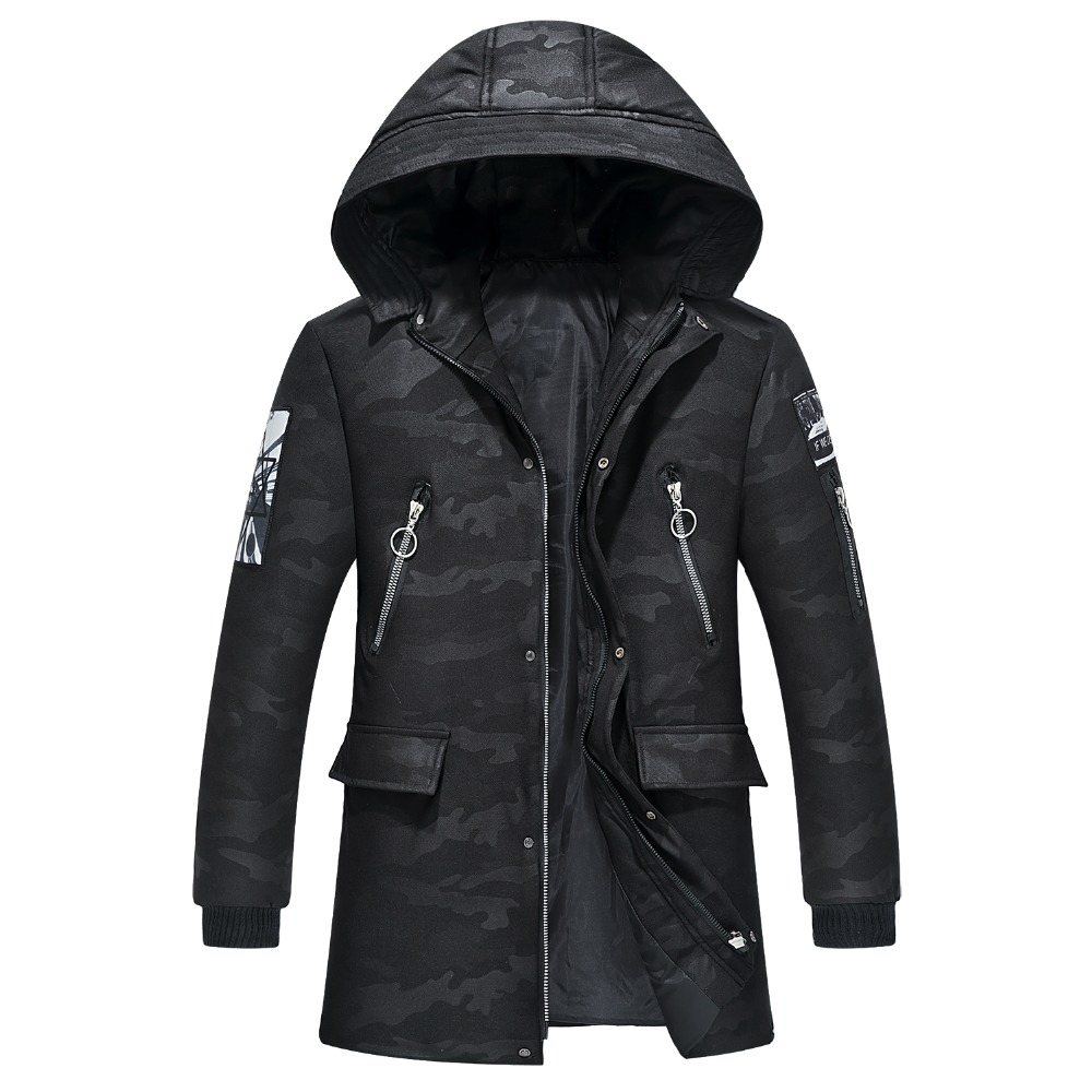 Plus Size 4XL-9XL Winter Jacket Men Long Softshell Male Coat Cheap Down Jacket   Parkas   Hoodie Windbreaker Snow Cold Jacket WU74