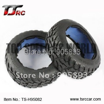 цена на 5B Front Highway-road Tire Set(TS-H95082)x 2pcs for 1/5 Baja 5B, without inner foam,wholesale and retail