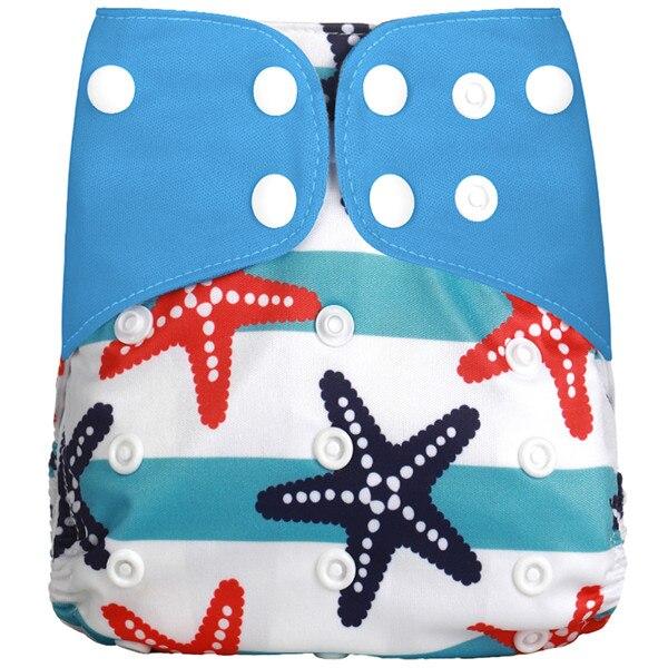 [Simfamily] Новые детские тканевые подгузники, регулируемые подгузники для мальчиков и девочек, Моющиеся Водонепроницаемые Многоразовые подгузники для новорожденных - Цвет: NO18