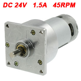UXCELL Hot Sale 1 Pcs 8mm Diameter Output Shaft 24V 1.5A DC Gear Motor 45RPM цена