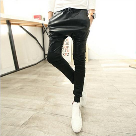 font b b font male b 2016 tight pitillo Mens hombre male cuero pantalones pants Leather font font b red vqxOw7xE