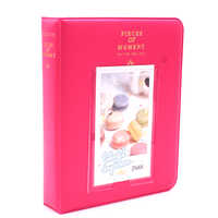 Reine farben 64 Taschen Fotos Album Hochzeit für 3 Zoll Mini Instant Fuji Instax Polaroid & Name Karte Album de Fotografia 7 s 8 9