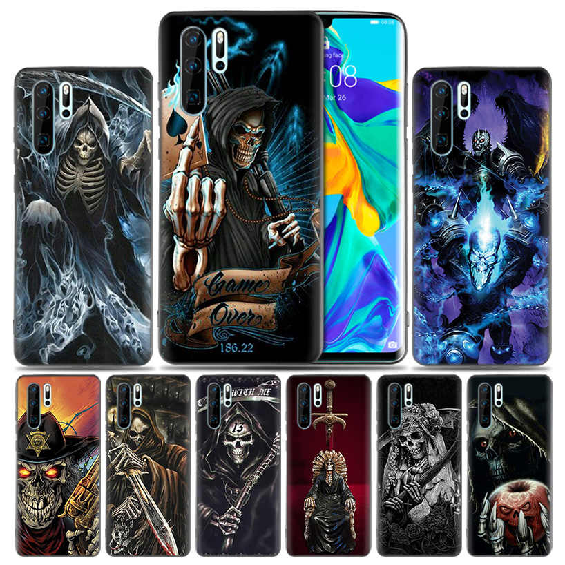 Grim Reaper Skull Skeleton Fitted Case For Huawei P30 P20 Pro P10 lite Honor 8X 8A 8C 10 10i 20i P Smart + Plus Y6 Y7 2019 Cover